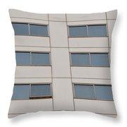 Office Building Windows Throw Pillow