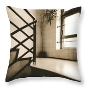 Office Plant Throw Pillow