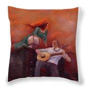 Office Romance Throw Pillow