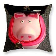 Officer Bacon Wants A Doughnut Throw Pillow