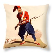 Officer Of European Infantry Of Ottoman Throw Pillow by Thomas Charles Wageman