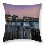Officers' Row Throw Pillow