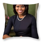 Official Portrait Of First Lady Michelle Obama Throw Pillow