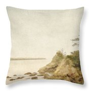 Offshore Rocks Oregon Coast Throw Pillow by Carol Leigh