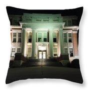 Oglebay Hall At Night Throw Pillow
