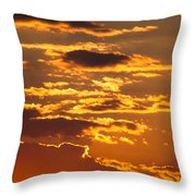 Ograzhden Mountain Sunset Throw Pillow
