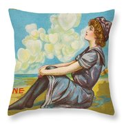 Oh Be My Valentine Postcard Throw Pillow