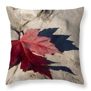 Oh Canada Maple Leaf Throw Pillow