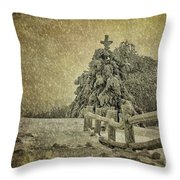 Oh Christmas Tree In Snow Throw Pillow