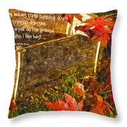Oh How I Love Autumn With Poetry Throw Pillow