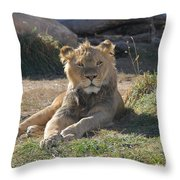 Oh I Just Can't Wait To Be King Throw Pillow