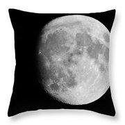 Oh La Moon Throw Pillow
