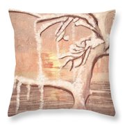 Oh Let It Snow Let It Snow Throw Pillow
