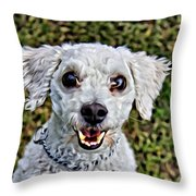 Oh My That Face Throw Pillow