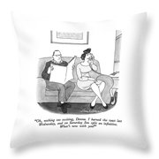 Oh, Nothing Too Exciting, Donna.  I Burned Throw Pillow