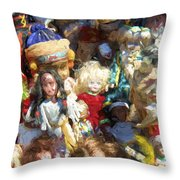 Oh Those Dolls Throw Pillow