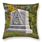 Ohio At Gettysburg - 29th Ohio Volunteer Infantry Autumn Mid-afternoon Culp's Hill Throw Pillow