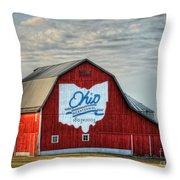 Ohio Bicentennial Barn -van Wert County Throw Pillow