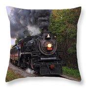 Ohio Central #1293 Steam Throw Pillow