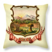 Ohio Coat Of Arms - 1876 Throw Pillow