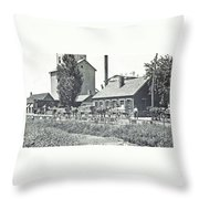 Ohio Erie Canal - Circa 1911 Throw Pillow