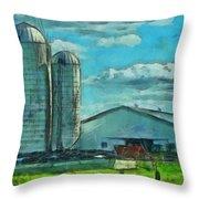 Ohio Farm Throw Pillow