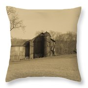 Ohio Farming Throw Pillow