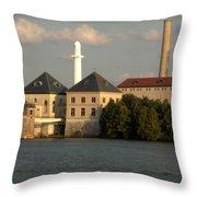 Ohio River Bank Throw Pillow