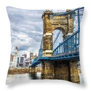 Ohio River Bridge Throw Pillow