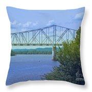 Ohio River Crossing Throw Pillow