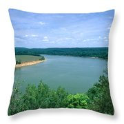 Ohio River Throw Pillow