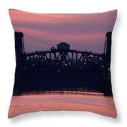 Ohio River Railroad Bridge Throw Pillow