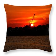 Ohio River Sunset Throw Pillow