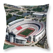 Ohio Stadium Aerial Throw Pillow