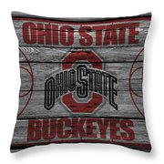 Ohio State Buckeyes Throw Pillow by Joe Hamilton