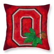 Ohio State Buckeyes On Canvas Throw Pillow