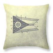 Ohio State Flag Design Throw Pillow
