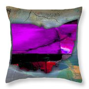 Ohio State Map Watercolor Throw Pillow