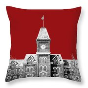 Ohio State University - Dark Red Throw Pillow
