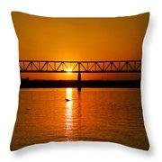 Ohio Sunset Throw Pillow