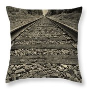 Ohio Train Tracks Throw Pillow