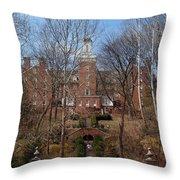 Ohio University Bryan Hall Throw Pillow