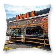 Ohio University Court Street Diner Throw Pillow