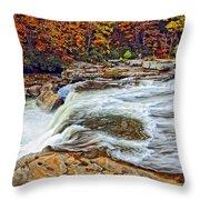 Ohiopyle Falls 2 Throw Pillow