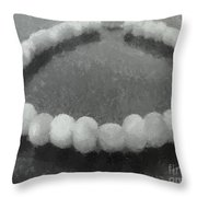 Ohrid Pearls Necklace Throw Pillow