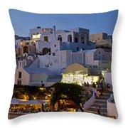 Oia Panorama 3 Throw Pillow