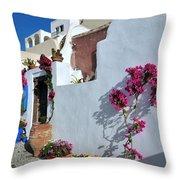 Oia Town Throw Pillow
