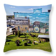 Oil And Gas Musem Throw Pillow