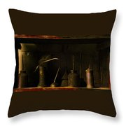 Oil And Grease Throw Pillow