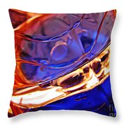 Oil And Water 15 Throw Pillow by Sarah Loft
